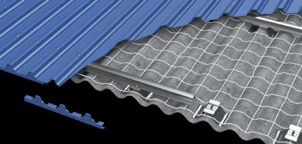波形スレート改修屋根リフォーム 固定工法 イメージ写真