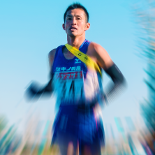 マラソンゴール目前の選手の写真